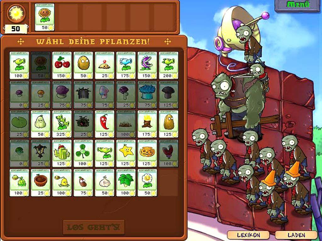 Pflanzen gegen Zombies   Games-Guide