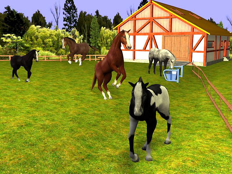 reiter barbie mit pferd