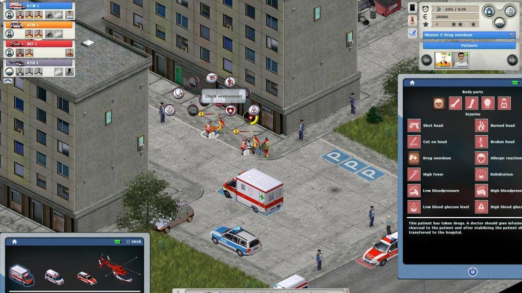 Rettungsdienst Spiel